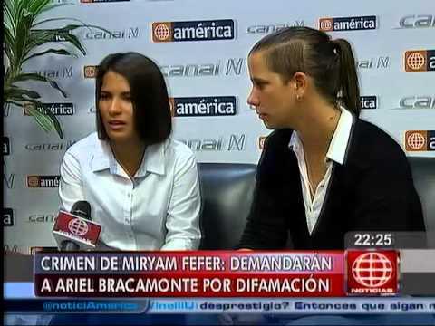América Noticias - 150414 - Eva Bracamonte denunciará a su hermano Ariel
