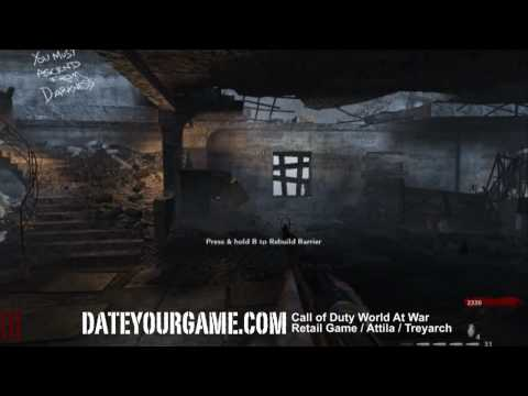 Call of Duty 5 World at War Walkthrough - Nazi Zombies - Nacht der Untoten Part 1- Gameplay HD