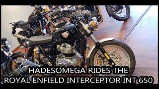 HadesOmega Rides the Royal Enfield Interceptor INT 650