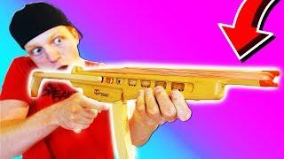 WORLD'S CRAZIEST RUBBER BAND MACHINE GUN!