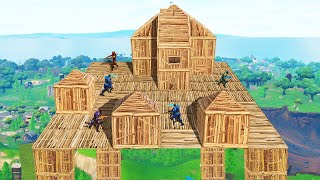 WE BUILT THE BIGGEST SKY CITY IN FORTNITE! (Battle Royale)