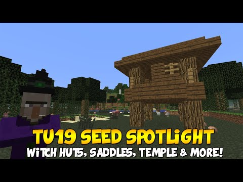 Minecraft (Xbox & PS3) TU19 SEED - SADDLES, WITCH HUTS, TEMPLE & MORE!