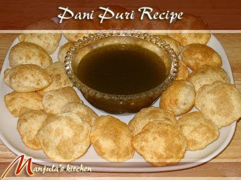 Pani Puri Recipe by Manjula, Indian Vegetarian Cooking