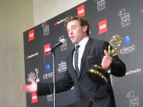 Backstage at Daytime Emmys 2013: Winner Billy Miller ('Young and the Restless')