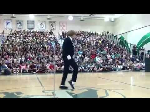 Michael Jackson impersonation at school talent show! Amazing!
