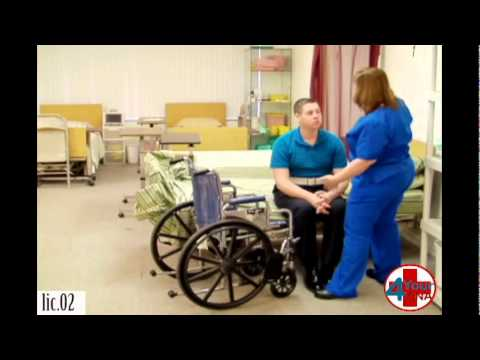 Transfer From Bed To Wheelchair Using Transfer Belt