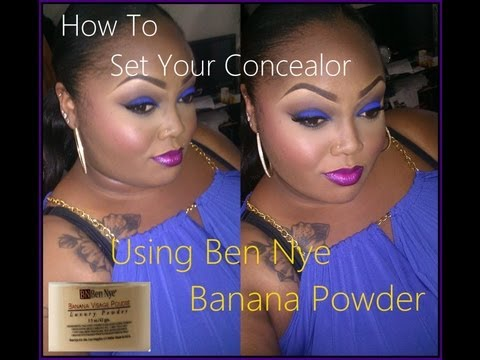 How I set my Concealor :  Ben Nye Banana Powder Application