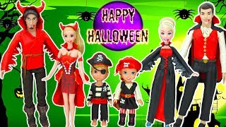 PLAY DOH HALLOWEEN COSTUMES for Disney couples!! Vampire Red Devil Pirates