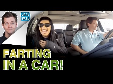 FARTING WHEN PEOPLE ARE TRAPPED IN A CAR!