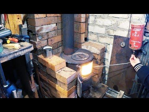Тепло в гараж 2. Печь под любое топливо!