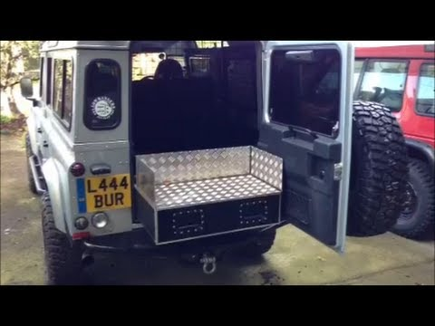 Custom Made Mobile Storage Drawer For Land Rover