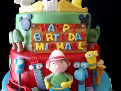 Mickey Mouse Club House, Handy Manny, & Little Einsteins Fondant Birthday Ca