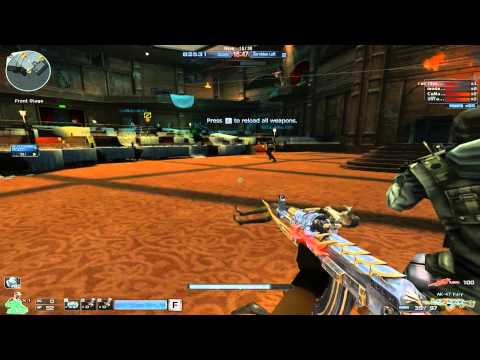 Crossfire Na | Zombie Mode Theather | First try with the new Ak-Fury