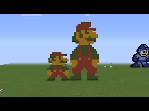 Minecraft Pixel Art Tutorial - 8 Bit Mario