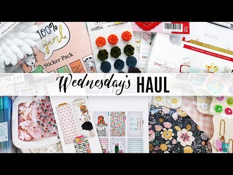 Wednesday's Haul 02.21.2018 - Craft & Planner Supplies Hobby Lobby. Michael's. Joann. Target