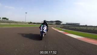 NEW BMW S1000 RR 2020 Onboard Lap at Budhh International Circuit
