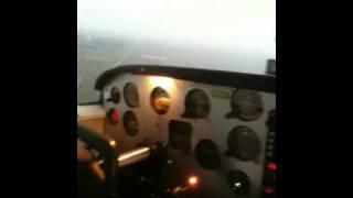 Piper Comanche sunset flight