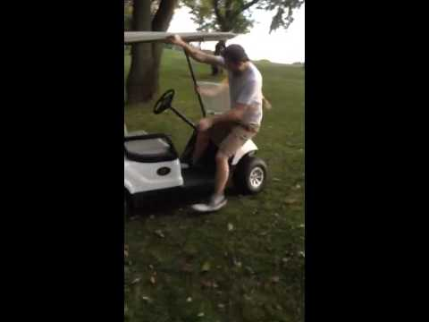 Funniest Golf Cart Flip Ever