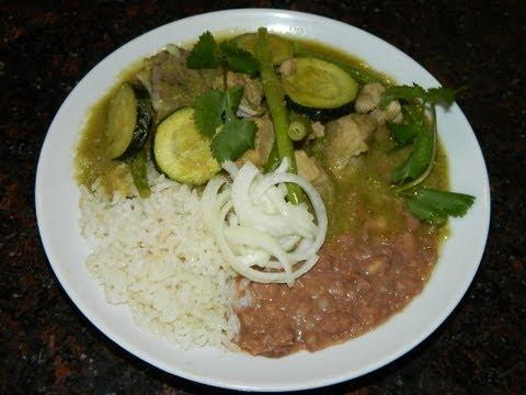 Receta:Trocitos de puerco en salsa verde