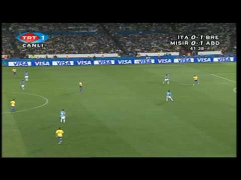 Brazil vs Italy  (3 - 0) FIFA Confederations Cup South Africa 2009 1 half 5