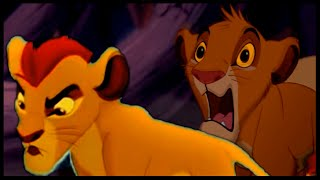 Kion defends Simba from hyenas (The Lion King Crossover)