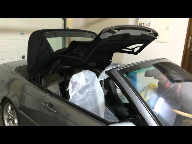 BMW e46 convertible soft top problem - does not open