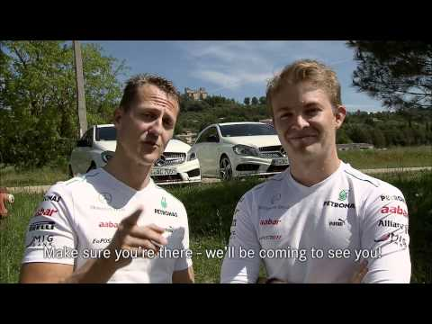 Nico Rosberg: Trailer Hockenheim GP with Michael Schumacher