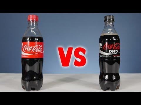 Mira cuanta azucar tiene la Cocacola vs Cocacola Zero