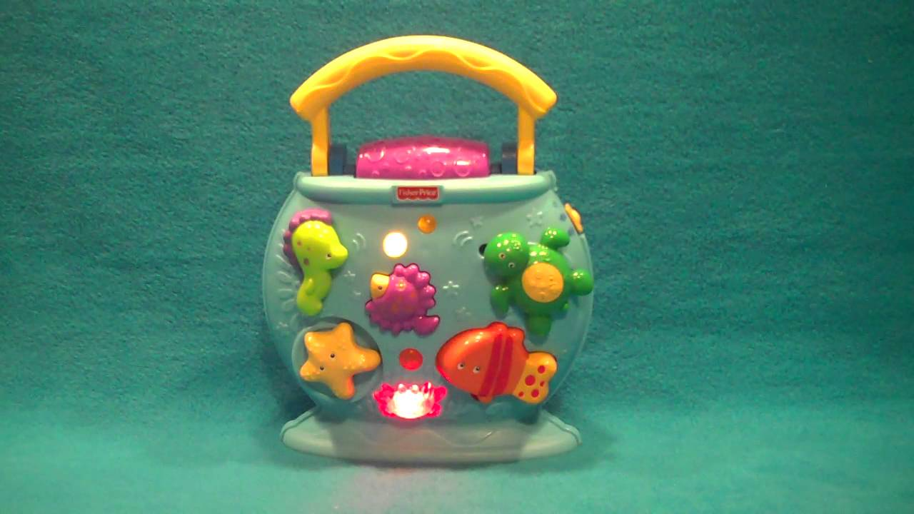 2010 Fisher Price Ocean Wonders Tote A Tune Fish Bowl