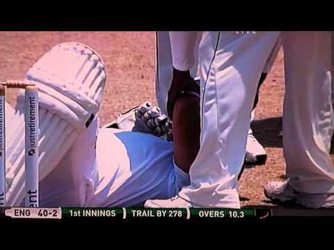 Jonathan Trott Headbutts Wicketkeeper After Being Stumped !!