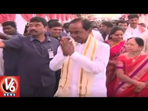 CM KCR Family Members To Visit Vijayawada Kanakadurga Temple Today | V6 News