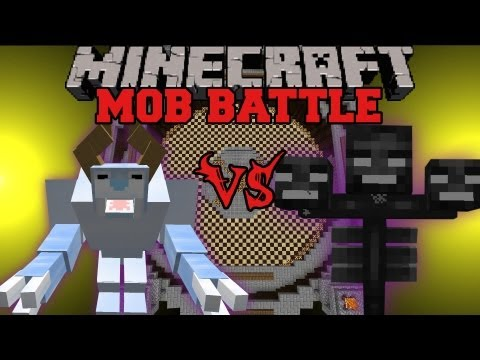 Wither Boss Vs. Snow Beast - Minecraft Mob Battles - Legendary Beasts Mod