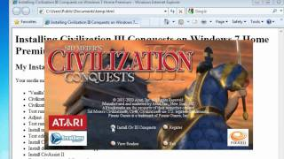 Install Civilization III Conquests on Windows 7 or Vista