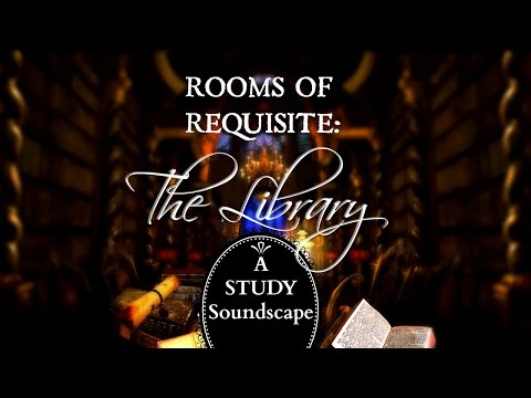 STUDY EASY: Hogwarts Library Soothing Whisper Sounds♥  IMMERSIVE Study Aid - Room of Requirement