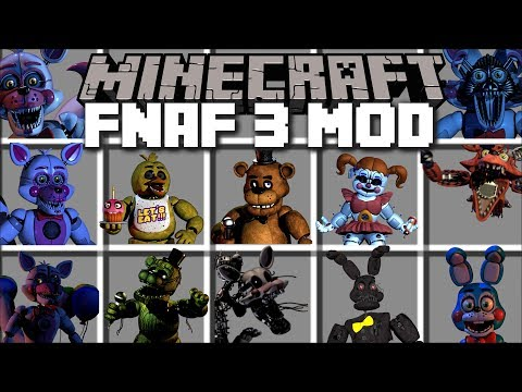 Minecraft FIVE NIGHTS AT FREDDY'S MOD / FIGHT EVIL FNAF MONSTERS AND SURVIVE THE NIGHT!! Minecraft