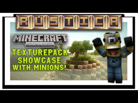 Minecraft (Xbox 360) Rustica Texturepack Review W Minion Skin! (NEW VIDEO!)