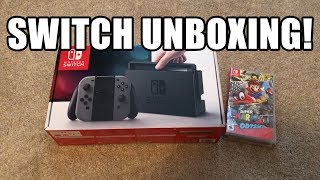 Nintendo Switch Unboxing! | Gray Joy-Cons + 3 Games!