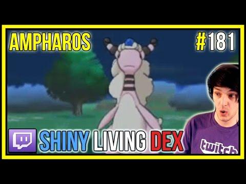 SHINY AMPHAROS LIVE REACTION! | Shiny Living Dex #181 | Pokemon X and Y