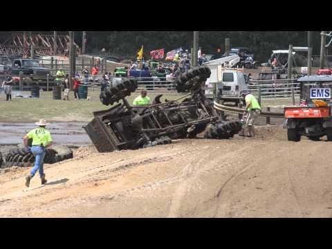 Rank 41 Willys Mega mud truck crash Redneck Yacht Club Run 2 4/6/2013