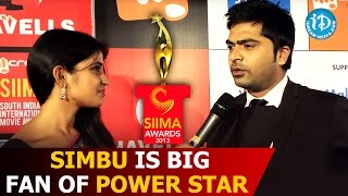 Simbu is Big Fan of Pawan Kalyan - wants to sing for Power Star @ SIIMA 2014