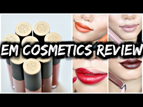 EM COSMETICS REVIEW & SWATCHES   LIP CLOUDS & LINERS