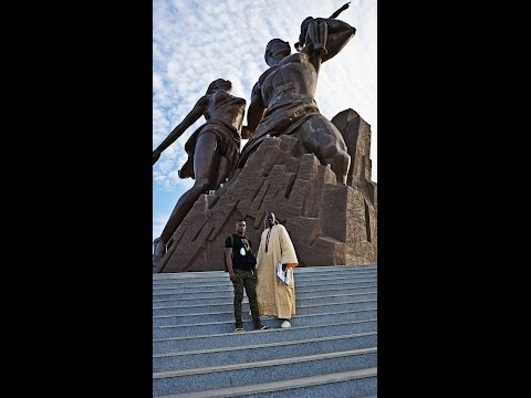 Tour of the African Renaissance Monument. Dakar, Sengeal