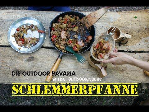 Wilde Outdoorküche - Die Outdoor Bavaria Schlemmerpfanne -