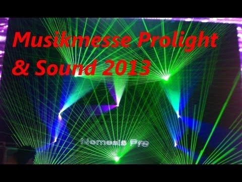 Impressionen und Lasershow Musikmesse Prolight & Sound 2013