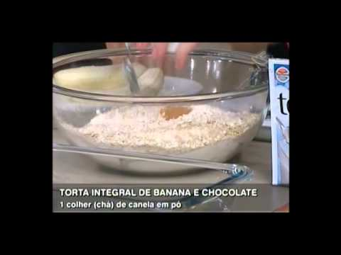 TORTA INTEGRAL DE BANANA E CHOCOLATE