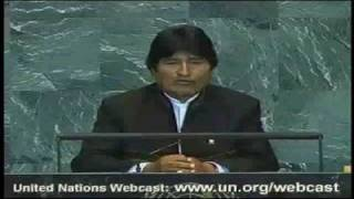 Bolivian President Evo Morales Speech | 2009 UN General Assembly
