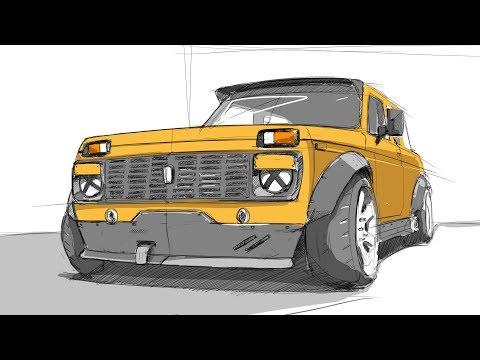 Нива с V8. Расширение кузова. Новая подвеска