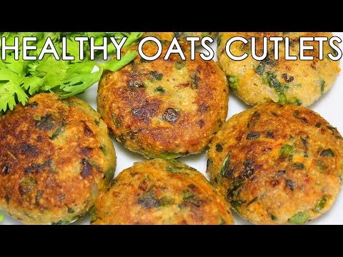 Healthy Oats & Mixed Vegetable Cutlets | Delicious Indian Snacks Recipe