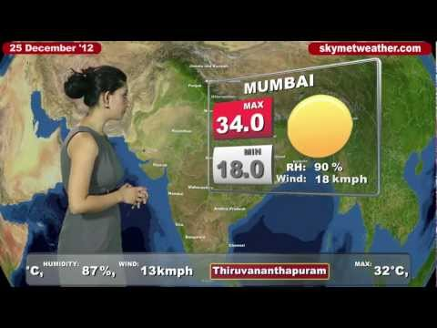 Skymet Weather Report - India December 25, 2012
