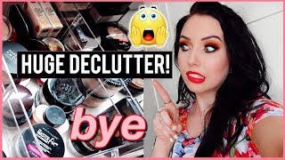 Getting Rid of HALF my Face Powder Collection! HUGE DECLUTTER 2019